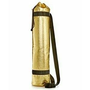 Gold yoga mat holder